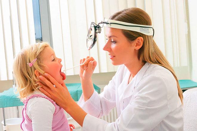 Лечение прыщей в горле у ребенка